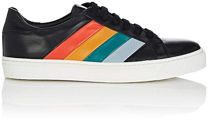 Anya Hindmarch WOMEN'S STRIPE-EMBOSSED LEATHER SNEAKERS