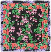 Gucci Flowers print silk scarf