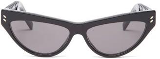 Stella McCartney Cat-eye Acetate Sunglasses - Black Grey