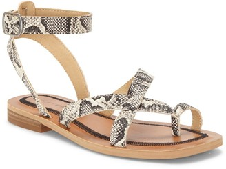 Lucky Brand Avonna Leather Ankle Strap Sandal