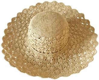 Maraina London Carla Large Raffia Sun Hat Natural