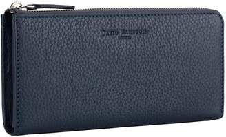 Richmond David Hampton Leather Zip Wallet In Petrol