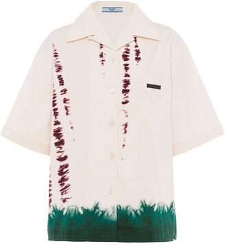 Prada Abstract-Print Short-Sleeve Shirt
