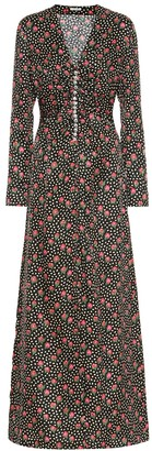 Miu Miu Floral silk maxi dress