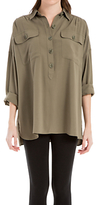 Max Studio Relaxed Shirt, Olive