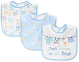 First Impressions Baby Boys' 3-Pack Blue Bibs, Only at Macy's