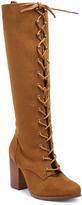 XOXO Cognac Marik Lace-Up Boot