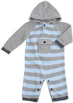His Favorite Hoodie Sweater Coverall - Blue Stripes (3-6 Months)