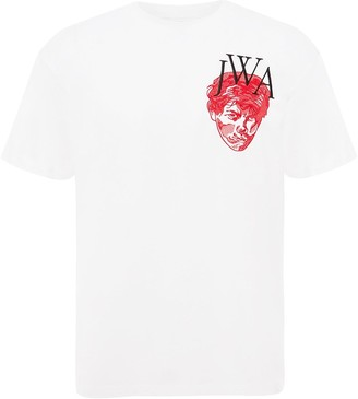 J.W.Anderson embroidered face logo T-shirt