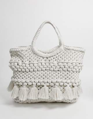 Cleobella menorca beach tote bag-White