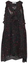IRO Lace-Up Ruffled Floral-Print Chiffon Dress