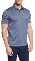 Ermenegildo Zegna Houndstooth Short-Sleeve Polo Shirt, Navy