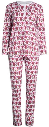 Roller Rabbit Monkey Print 2-Piece Pajama Set