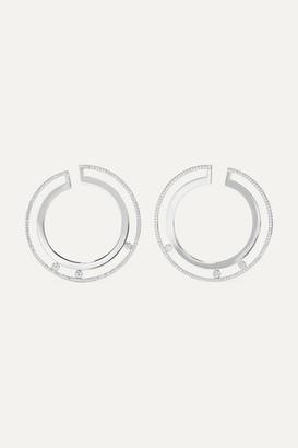 Messika Move Romane 18-karat White Gold Diamond Earrings