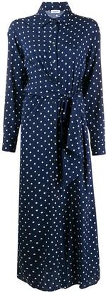 P.A.R.O.S.H. polka-dot print gathered dress