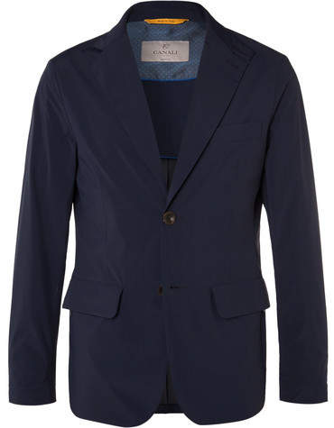 Canali Slim-Fit Water-Repellent Shell Blazer