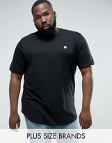 Le Breve Plus Longline Curved Hem Twill Shoulder T-shirt