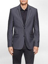 Calvin Klein Slim Fit Jacquard Peak Lapel Jacket