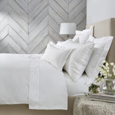 The White Company Adeline Duvet Cover, White, Single
