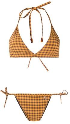 Fendi Gingham Check Bikini