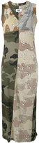 MM6 MAISON MARGIELA camouflage print maxi dress