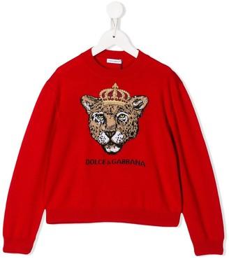 Dolce & Gabbana King Leopard sweater