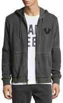 True Religion Faded Moto Hoodie, Dark Gray
