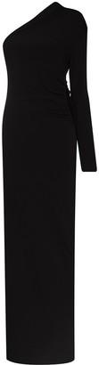 Supriya Lele Ruched One-Shoulder Maxi Dress