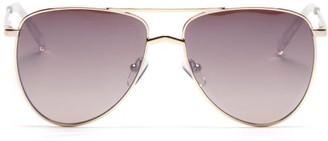 Le Specs High Fangle Aviator Metal Sunglasses - Gold