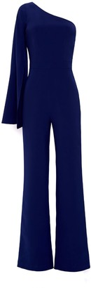 Nomi Fame 2. Amona Royal Blue One Sleeve Asymmetric Neckline Jumpsuit