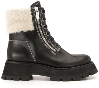 3.1 Phillip Lim Kate shearling-trimmed ankle boots