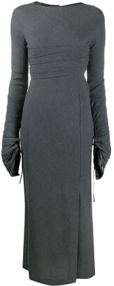 1990s Draped Detailing Long Dress