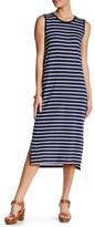 Joe Fresh Crew Neck Stripe Midi Dress