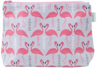 Flamingo Flourish Wash Bag Ice Blue