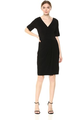 Adrianna Papell Women's Twisted Draped Jersey Sheath