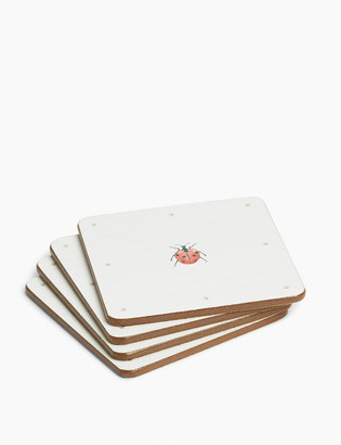Marks and Spencer Set of 4 Ladybird Print Coasters