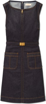 Tory Burch ZIP-FRONT DENIM DRESS