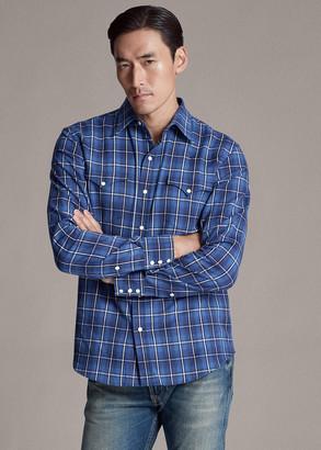 Ralph Lauren Plaid Twill Western Shirt