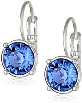 "Nine West Party Time"" Silver-Tone and Swarovski Drop Earrings"