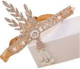 comprame 1920's Great Gatsby Vintage Style Pearl Crown Charleston Bridal Headband