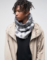Asos Infinity scarf In Geometric Design In Brushed Yarn