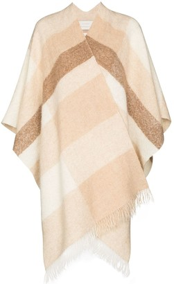 LAUREN MANOOGIAN Jacquard Panel Scarf-Style Poncho