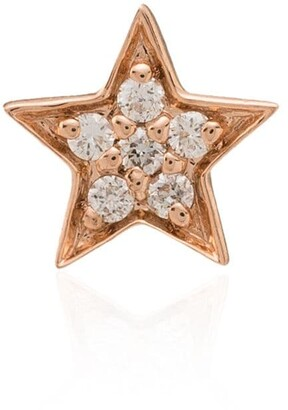 Andrea Fohrman 14kt Rose Gold Diamond Stud Earring
