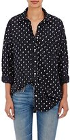 R 13 Women's Skull-Print Silk Shirt