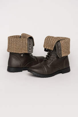 Ardene Warm Combat Ankle Boots - Shoes |