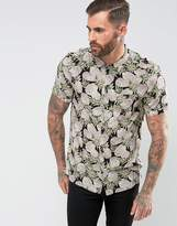 Religion Short Sleeve Shirt With Pineapple Print