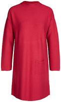 Oui Knitted Funnel Neck Silk Blend Dress, Cerise