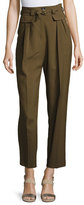 A.P.C. Isa High-Waist Tapered Pants, Khaki