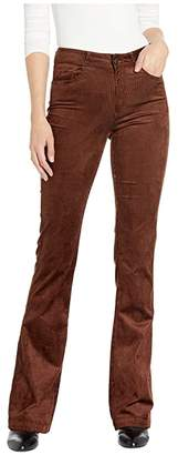 Paige High-Rise Lou Lou Flare in Chicory Coffee (Chicory Coffee) Women's Clothing