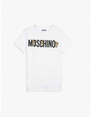 Moschino Logo print cotton T-shirt 4-14 years